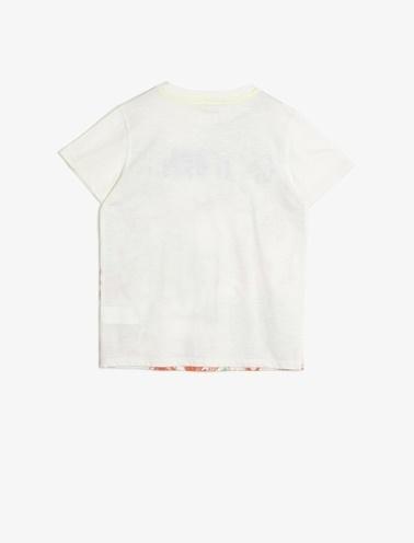Koton Kids Desenli T-Shirt Ekru